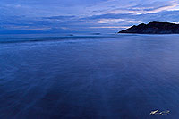 Twilight over Kaiaua Beach canvas print
