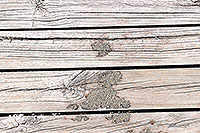 Old decking timber canvas print