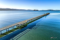Petone Wharf, Wellington harbour canvas print