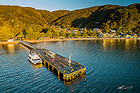 Days Bay wharf and ferry, Lower Hutt canvas print