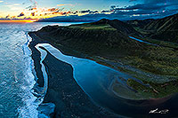 Wainuiomata River mouth, Baring Head canvas print